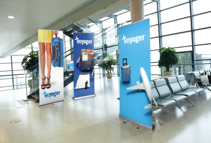 Einseitige Roll-Up Displays von Flamingo Group